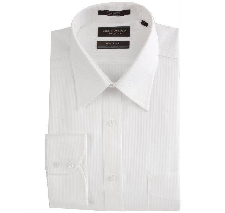 Joseph abboud white tonal herringbone stripe profile point for Joseph abboud dress shirt