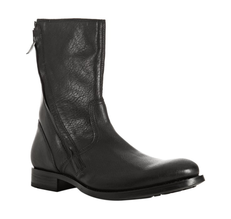 kenneth cole black leather mind boots in black for