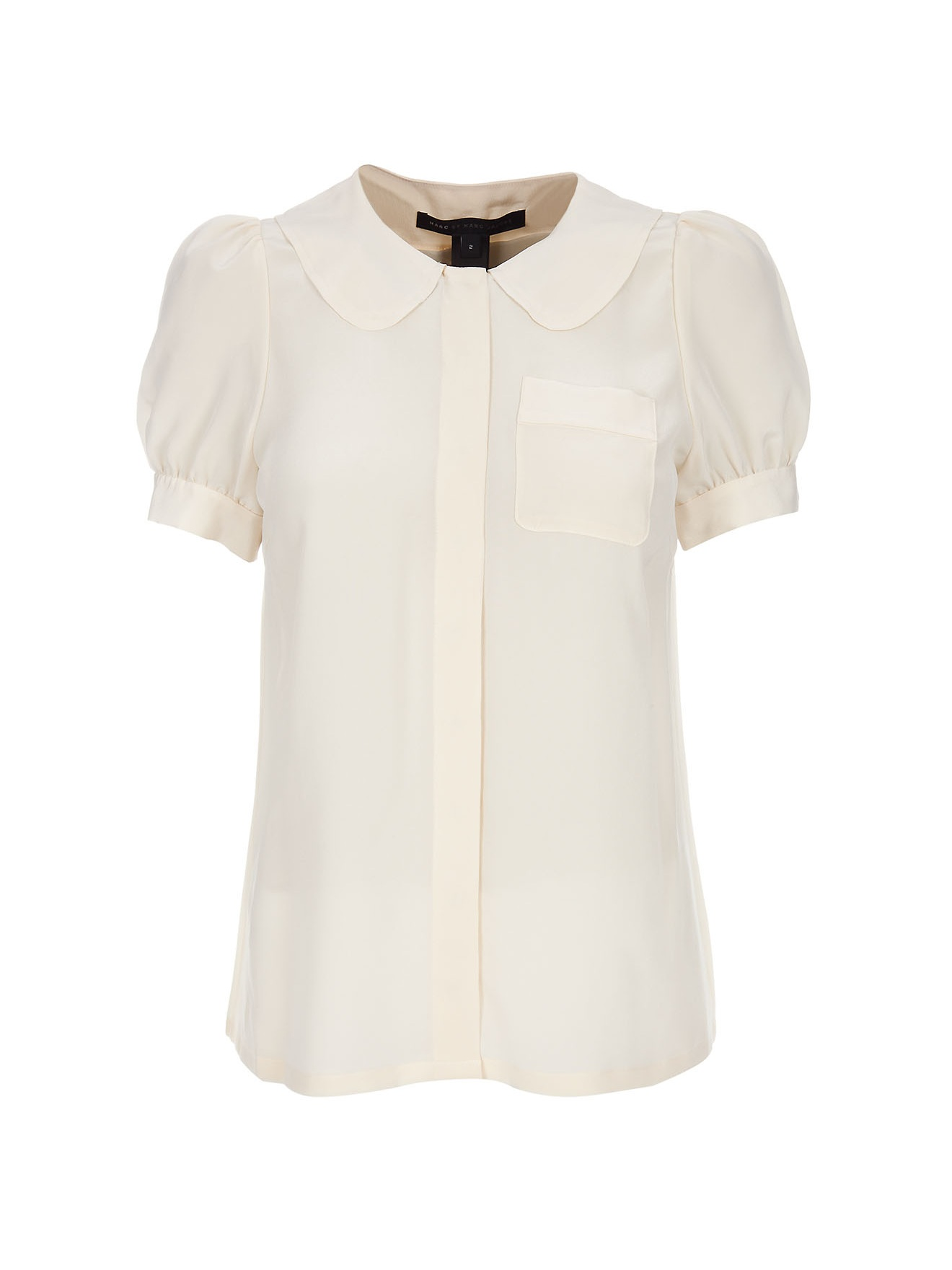 Marc by marc jacobs peter pan collar shirt in white cream for White cotton shirt peter pan collar