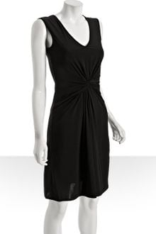 Black Jersey Dress on Max Cleo Black Black Jersey Twisted Front Dress Product 1 404038