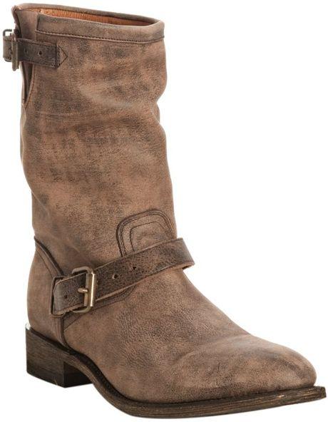 miz mooz distressed leather dorato motorcycle boots in