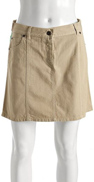 moschino cheap chic khaki denim truly italian skirt in