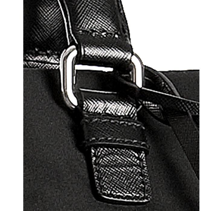 Prada Black Nylon Saffiano Trim Large Carry-on Bag in Black for ...