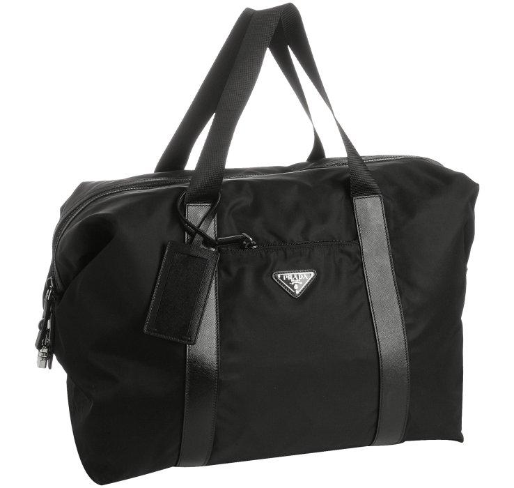 Prada Black Nylon Weekend Bag in Black for Men   Lyst