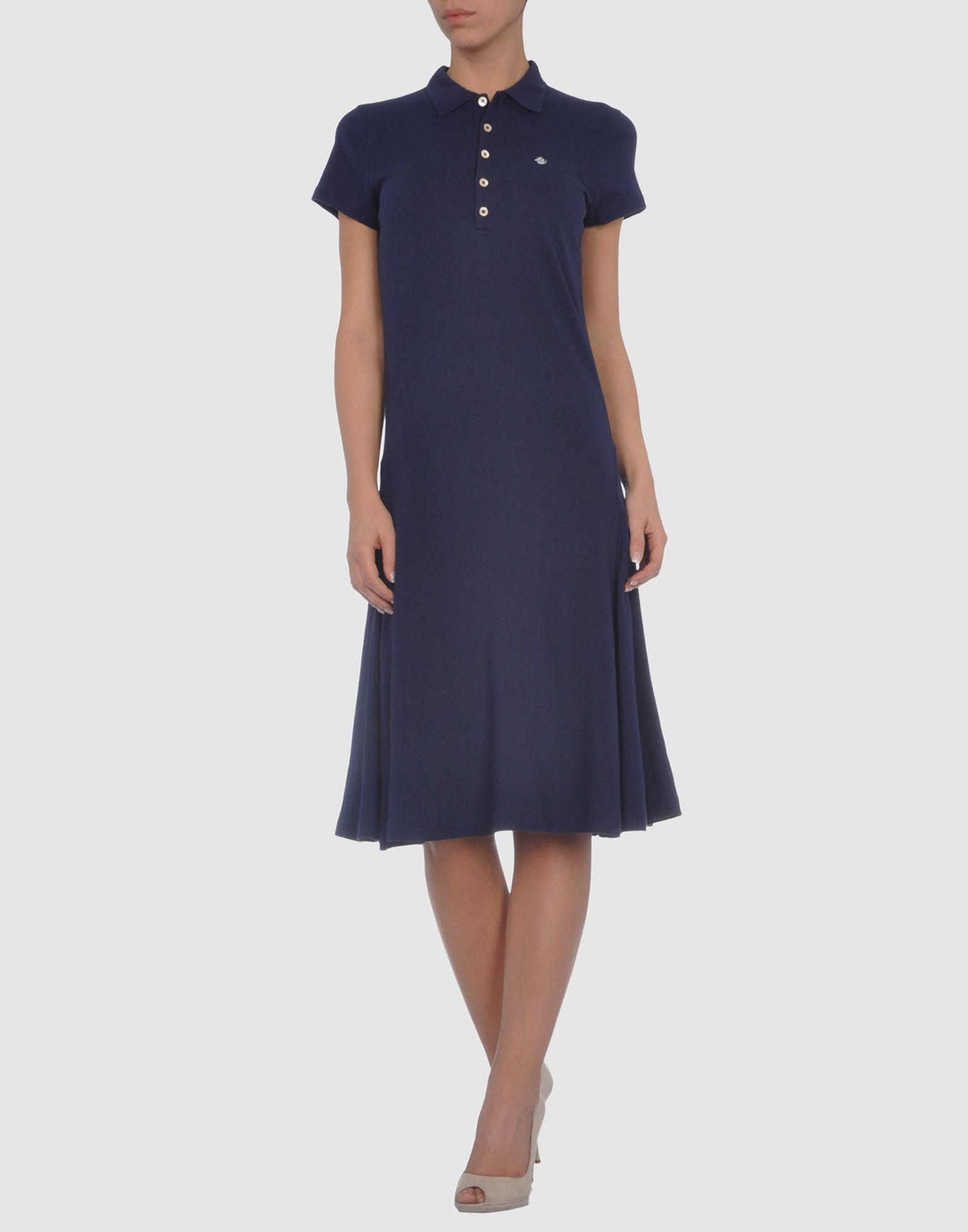 54893cde99b3c Lyst - Ralph Lauren Wimbledon Piqué Mesh Dress in Blue