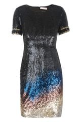 Matthew Williamson Sequinned Shift Dress - Lyst
