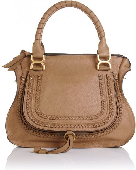 Chloé Marcie Large Shoulder Bag in Brown (nut) - Lyst