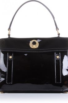 Yves Saint Laurent Muse Two Patent Leather Tote - Lyst