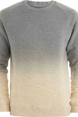 Robert Geller Dip Dyed Sweatshirt in Gray for Men (grey) - Lyst