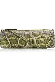 Burberry Prorsum Parmoor Slice-detailed Python Clutch - Lyst