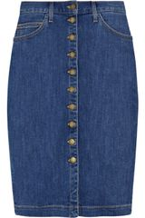 Current/Elliott The Dorothy Comet Denim Skirt By Current Elliot