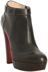 Christian Louboutin Black Leather Et Dun Plato 140 Platform Ankle Boots - Lyst