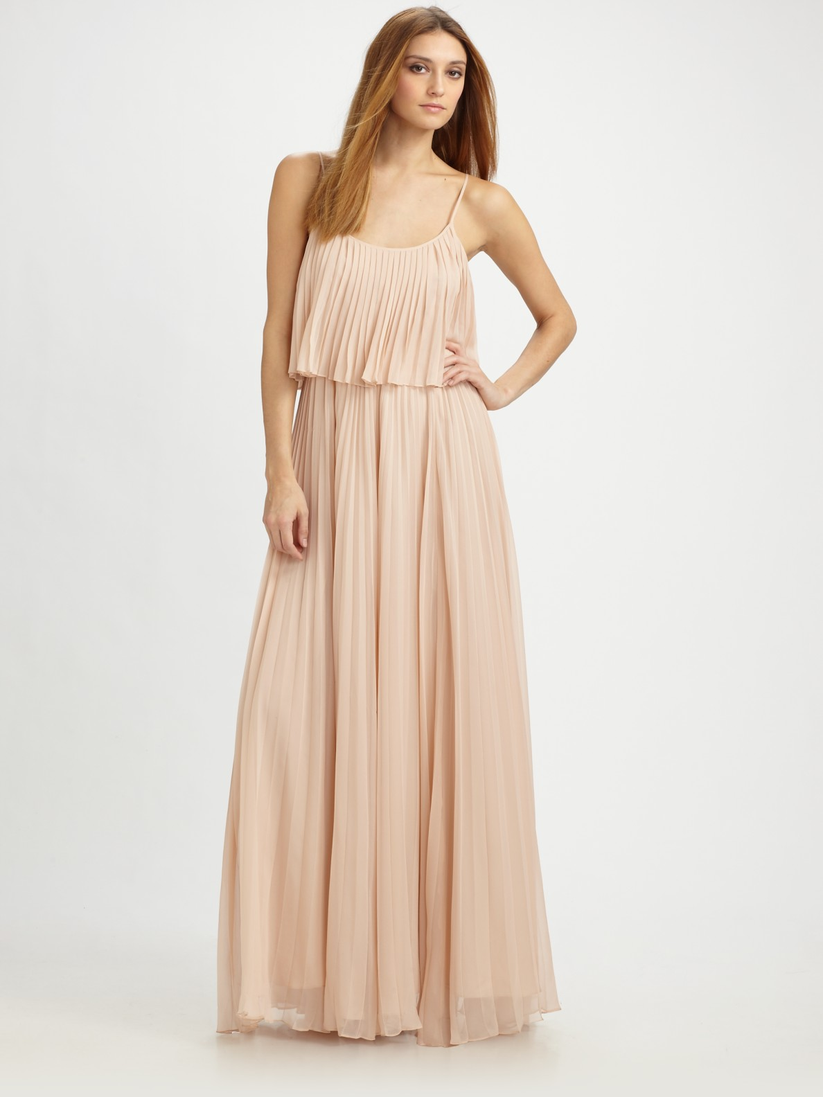 How to maxi wear pleated chiffon skirt advise to wear in spring in 2019