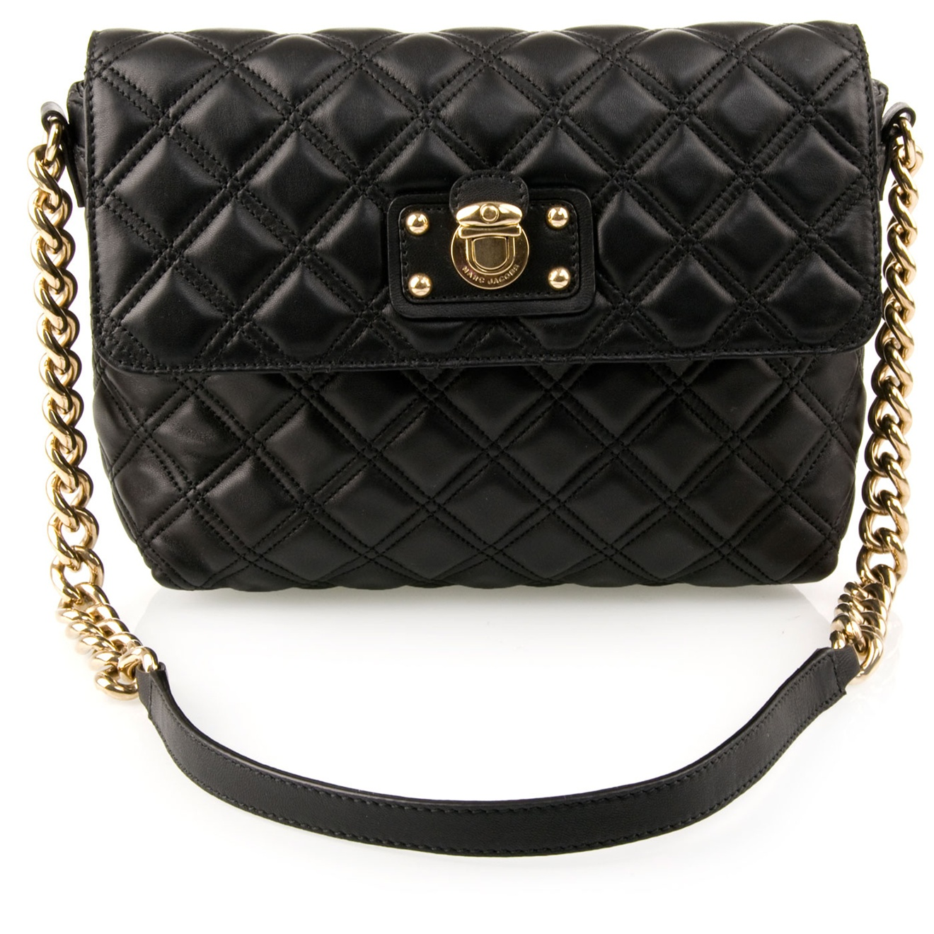 28ce19db33f7 Marc Jacobs Quilted Chain Bag in Black - Lyst