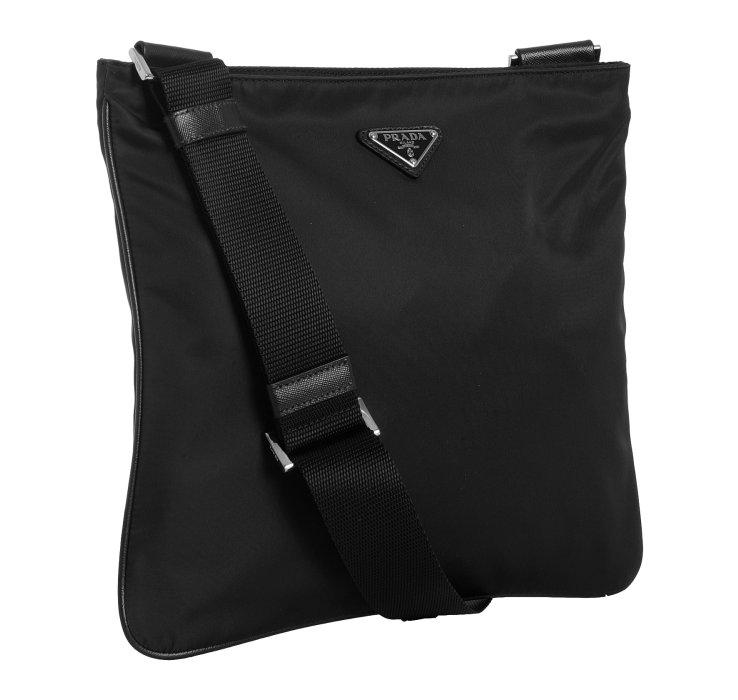 5c3d92949a9e ... uk lyst prada black nylon viaggio messenger bag in black for men d67ea  be456