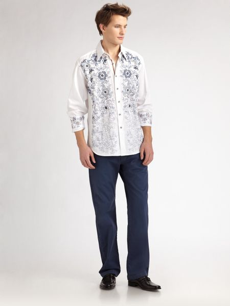 Robert Graham Zouk Sportshirt in White for Men - Lyst