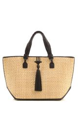 Anya Hindmarch Raffia Straw Shoulder Bag - Lyst