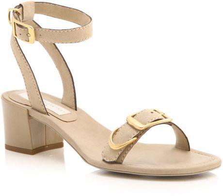 36071c06e63 Stella Mccartney Low Block Heel Shoes in Beige