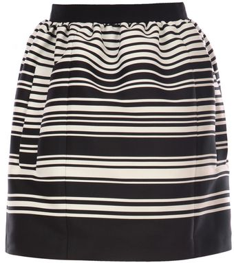 Carven Striped Skirt - Lyst
