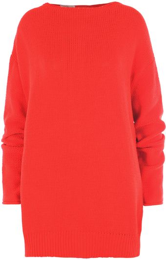 Acne Chunky Zip Back Sweater - Lyst