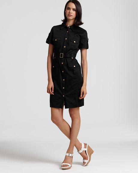 calvin klein sleeveless cotton shirt dress with belt in