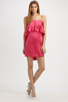 Halston Heritage Ruffle Mini Dress - Lyst