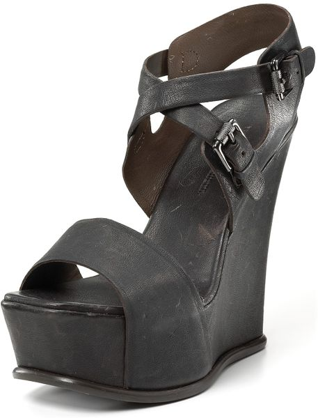 vera wang lavender rhoda platform wedge sandals in brown