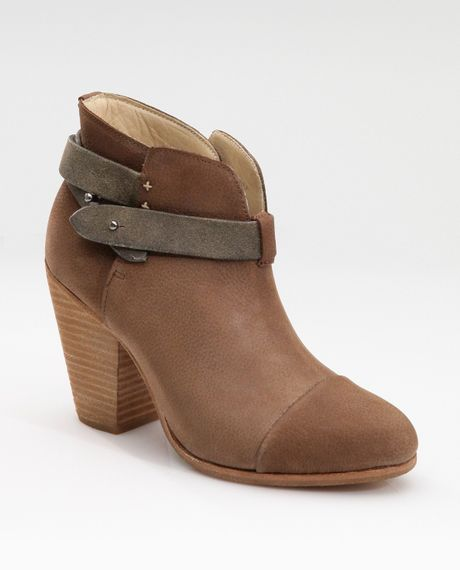 Rag & Bone Strapped Suede Boots in Brown - Lyst