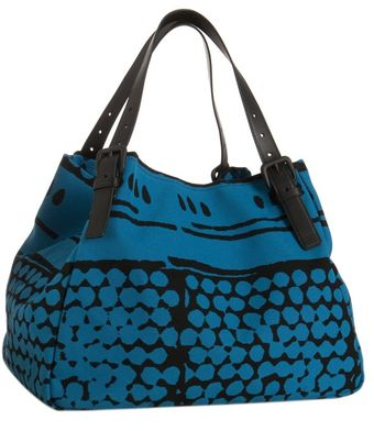 Bottega Veneta Empire Bolle Print Canvas and Leather Tote - Lyst