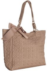 Deux Lux Nude Flower Quilted Love Drops Bow Tote - Lyst