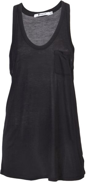 T By Alexander Wang Classic Tank in Black - Lyst