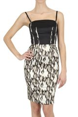 Just Cavalli Stretch Satin Dress - Lyst