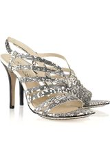 Kors By Michael Kors Lomita Lizard-effect Leather Slingback Sandals - Lyst