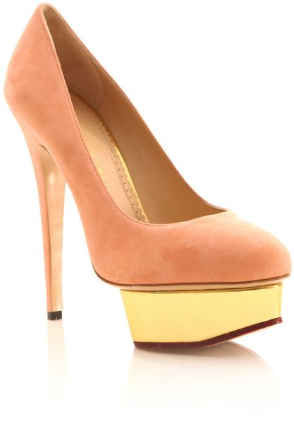 Charlotte Olympia Dolly Pumps in Pink (rose) - Lyst