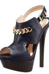 Fendi Chain Platform Pump in Blue (blu) - Lyst