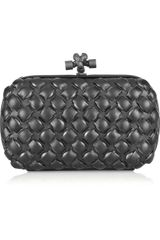 Bottega Veneta Knot Intrecciato Leather Clutch - Lyst