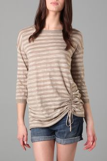 DKNY Pure Dkny Striped Pullover Sweater - Lyst