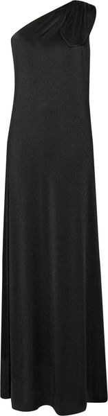 Halston Heritage Stretch Satin-jersey One-shoulder Maxi Dress - Lyst