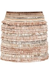 Matthew Williamson Embellished Linen-blend Skirt - Lyst