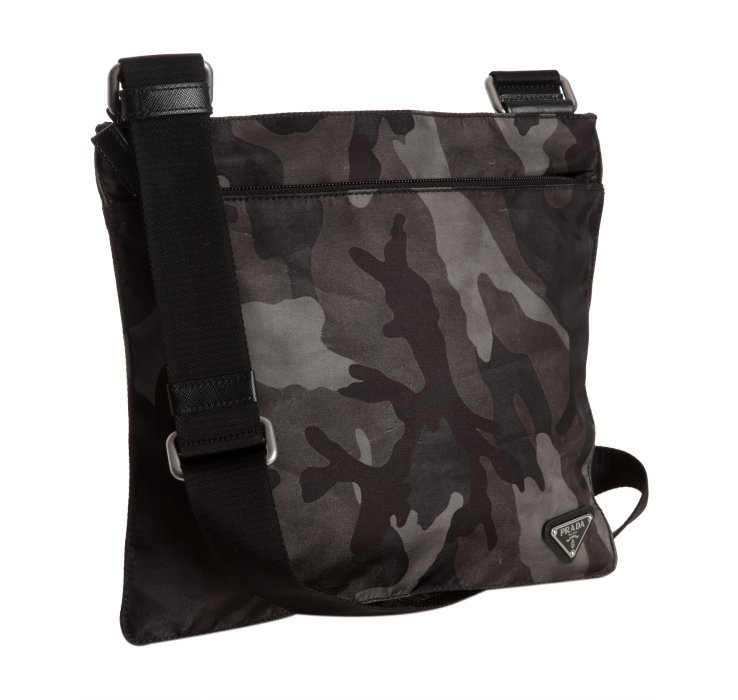 ba04acb0d4bd ... switzerland lyst prada smoke camouflage nylon messenger bag in gray for  men 0fe6a e449d