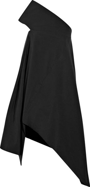 Rick Owens Cotton and Silk-blend Canvas One-shoulder Dress - Lyst