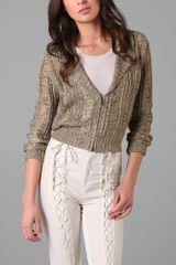 Rodarte x Opening Ceremony Drop Stitch Cable Knit Cardigan - Lyst