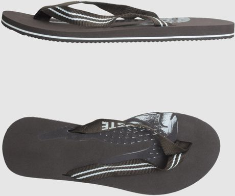 Lacoste Flip Flops in Brown for Men - Lyst
