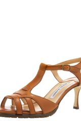 Manolo Blahnik Brown Marrone Sandal - Lyst
