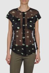 Zac Posen Short Sleeve Shirt - Lyst