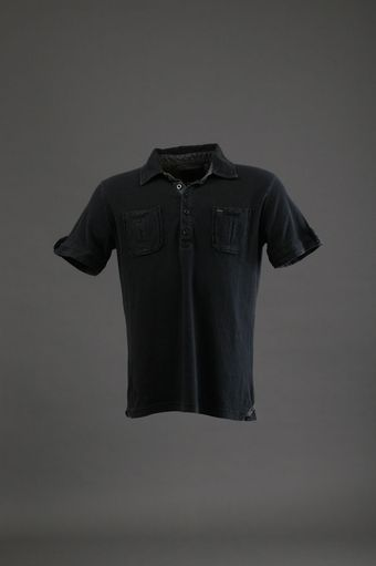 7 Diamonds Analogue Rock Polo in Black - Lyst