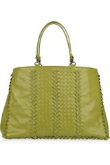 Bottega Veneta Shopping Intrecciato Leather Tote - Lyst