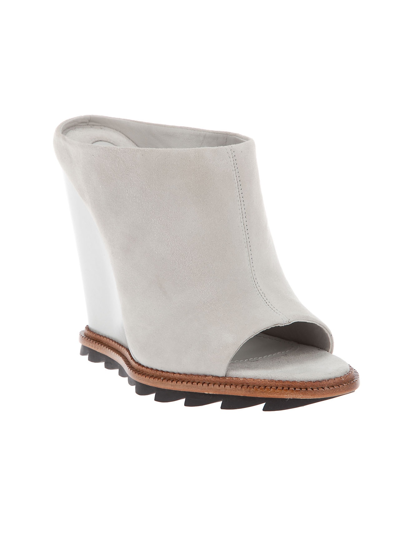 Camilla Skovgaard Wedge Mule In White Ash Lyst