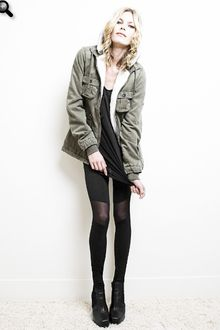 Chick With Guns Chick with Guns Misha Army Jacket in Army - Lyst