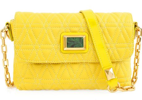 Marc By Marc Jacobs Cosmo Quilted Leather Shoulder Bag in Yellow - Lyst